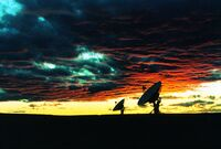 Very Large Array at Sunset