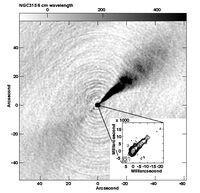 VLA & VLBA Jet Image NGC 315
