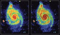 Magnetic Field Lines in M51
