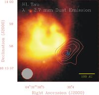 Cold Dust Near Variable Star HL Tau