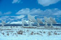 Very Large Array in Snow, 5 March 2004