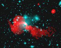 Radio/Optical Overlay Radio Galaxy 3C66B