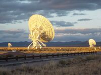 Very Large Array at Sunset, 27 October 2004