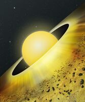 Artist's Conception of Dusty Disk Around Young Star