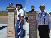 Barney Rickett and Barry Clark at Bracewell Sundial