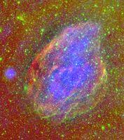 A Supernova Explosion Inside a Molecular Cloud
