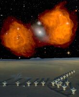 Very Large Array and Fornax A