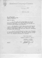 Reply to GR's letter of 3/16/1939