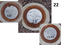 Bracewell Sundial Sidereal Time Markers