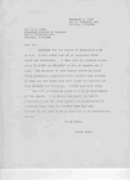 GR's reply to letter of 2/3/1939
