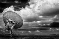 Very Large Array Dish & Sky, August 2002