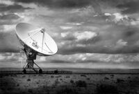 Very Large Array Lone Dish, August 2002