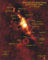 Galactic Center Wide Field VLA Radio Image