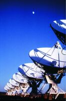 Very Large Array & Moon 03