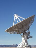 Very Large Array Antenna - Looking Out, 20 December 2003