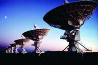 Very Large Array & Moon