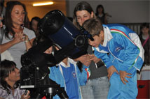 Figure 2: Young people particularly enjoyed looking through a telescope at a Star Party.